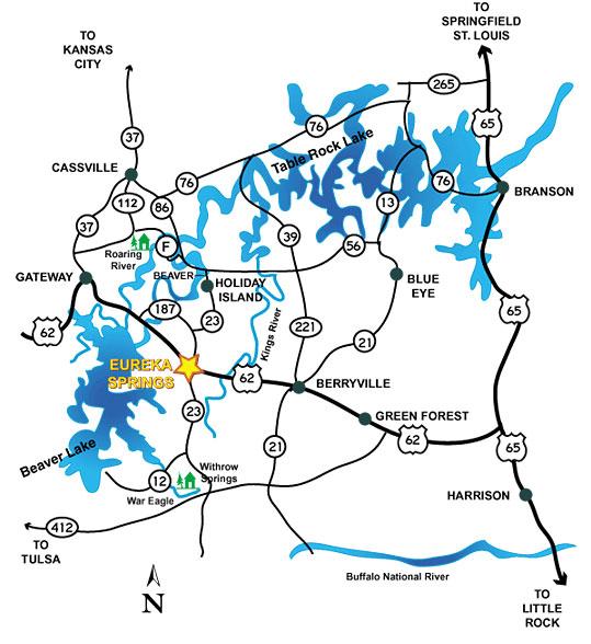 The Waterways around Eureka Springs, Arkansas